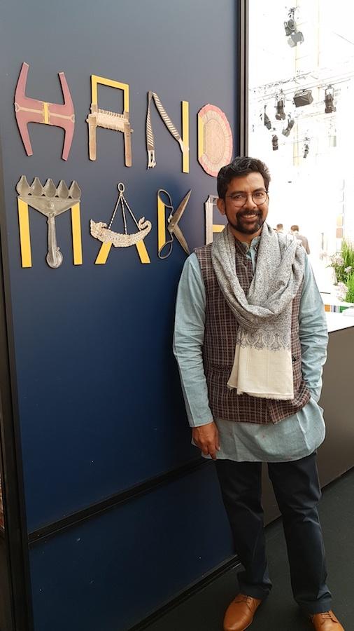 """Der Designer Ayush Kasliwal aus Jaipur war Kurator der Ausstellungsfläche """"Hand Make"""", die auf der Ambiente 2019 das Gastland Indien repräsentierte."""